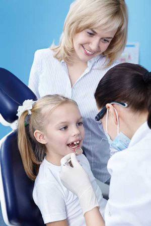 family with dentist