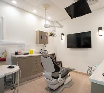 dentist chair at calgary office
