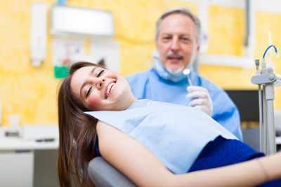 patient getting oral surgery