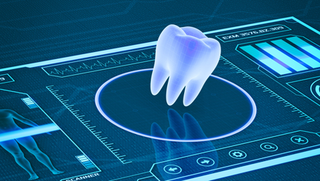 tooth on a digital image