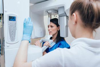 patient getting digital x-ray