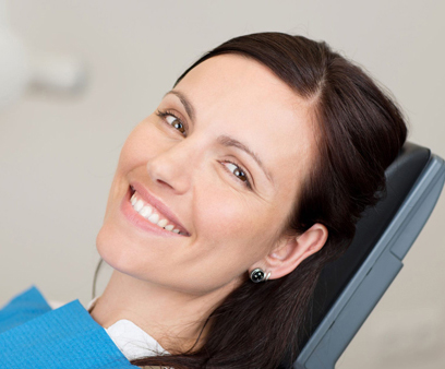 woman in dentist chair about to get a digital impression